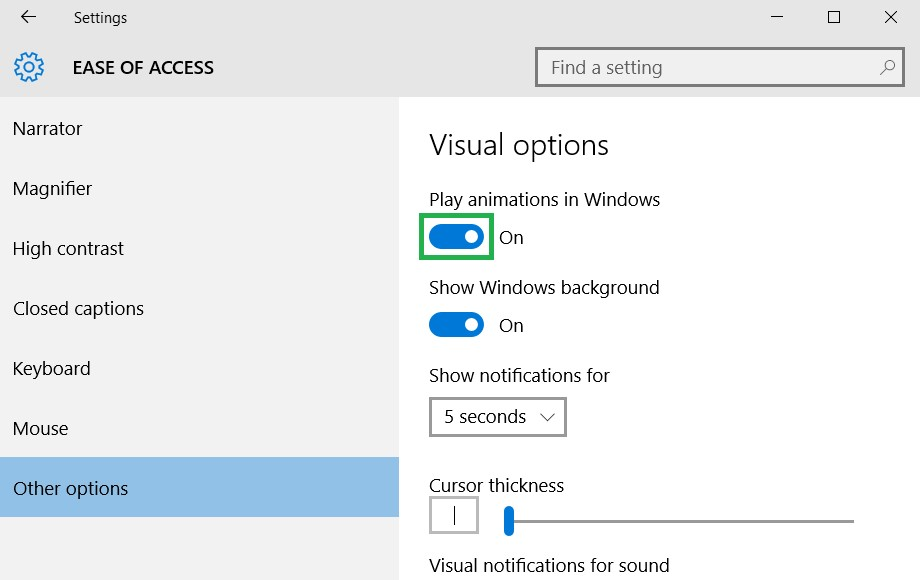 How to turn off shaky animations when switching virtual